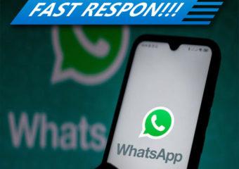 Respon Cepat Via WhatsApp